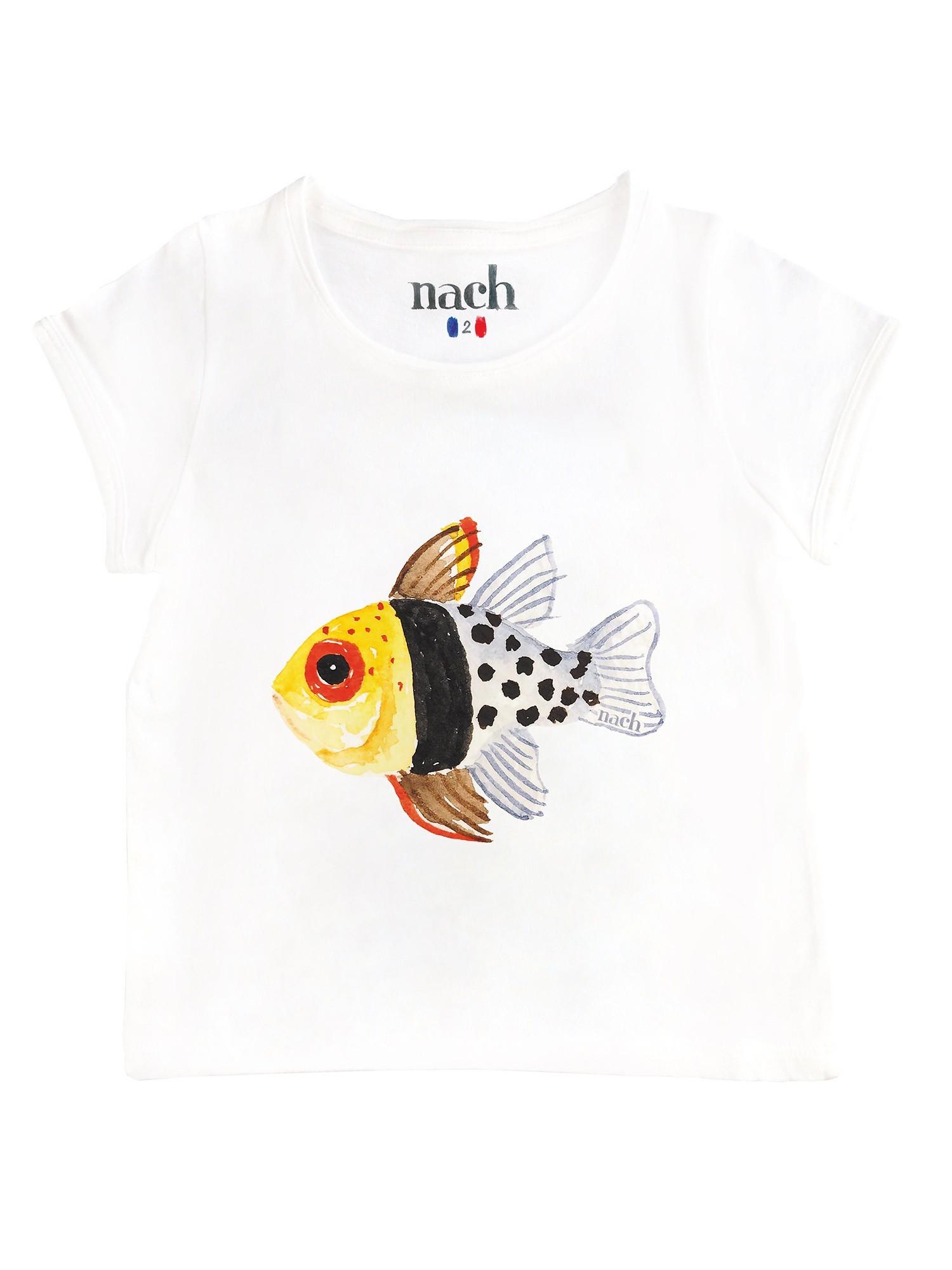 T-shirt Poisson jaune