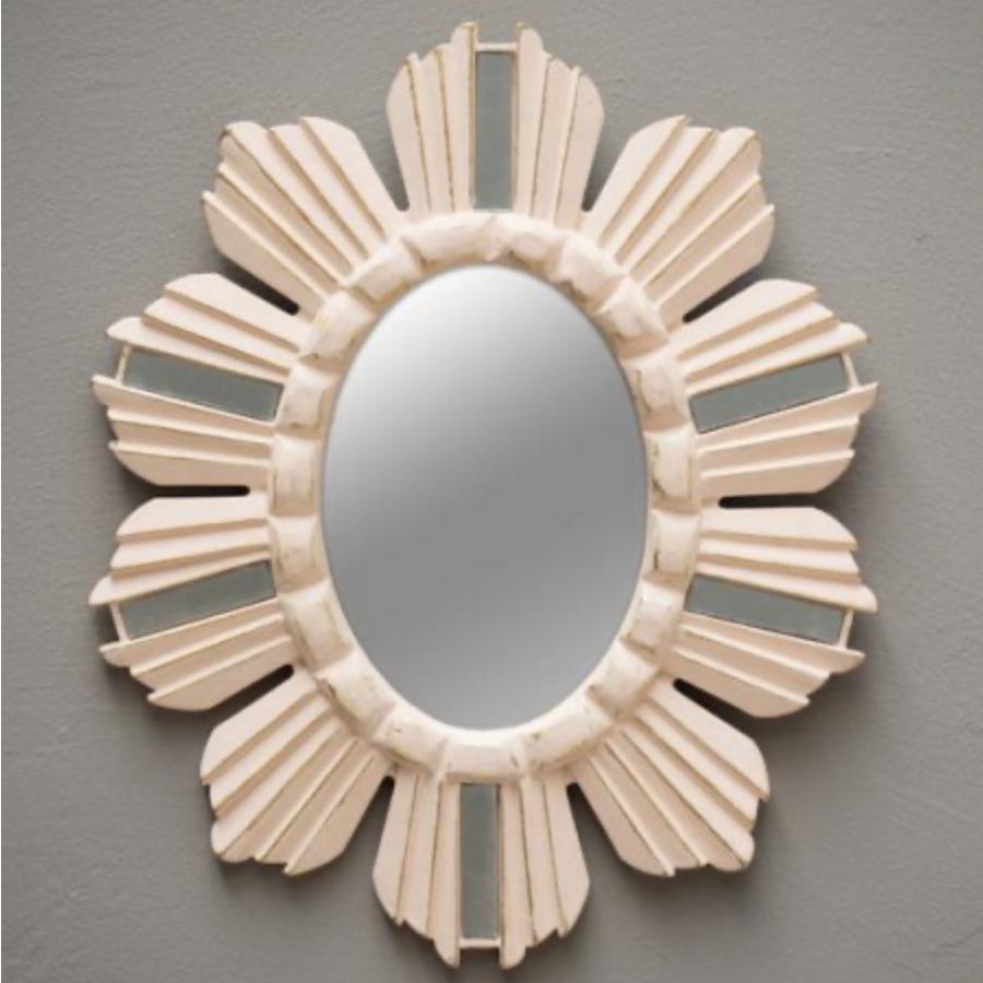 Miroir rose pâle et or...