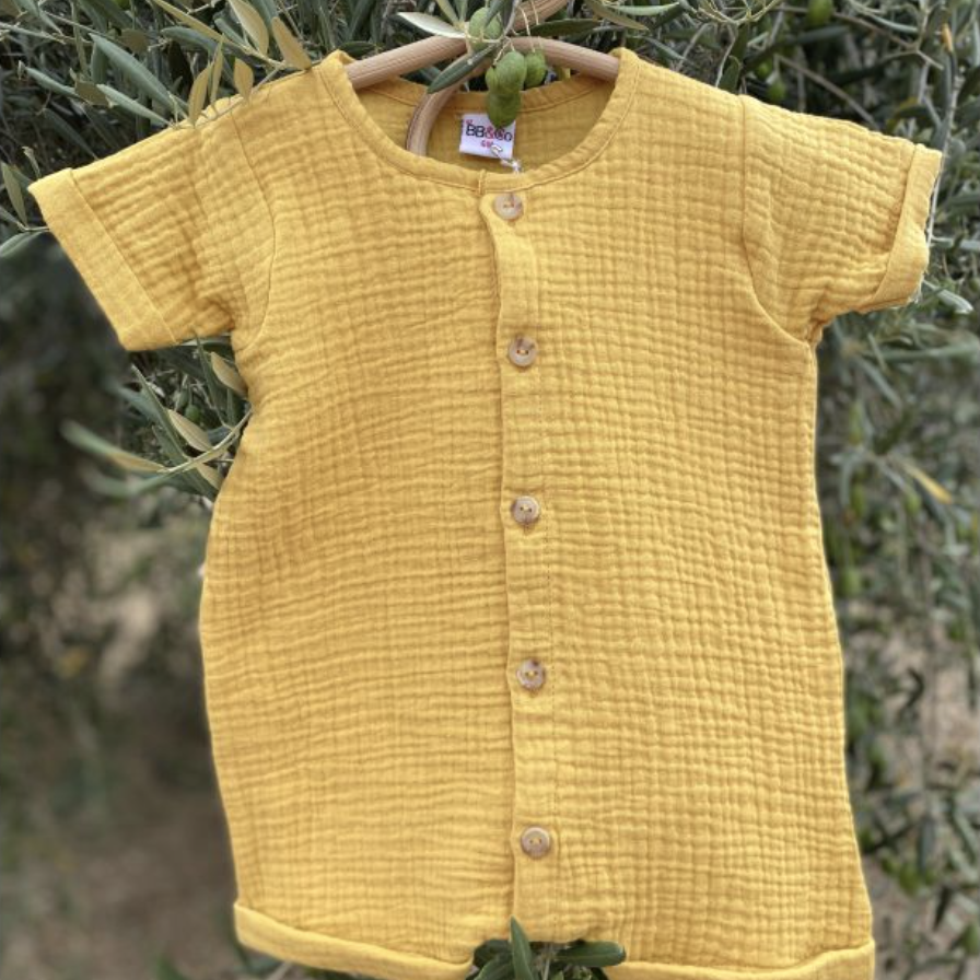 Combinaison garçon moutarde