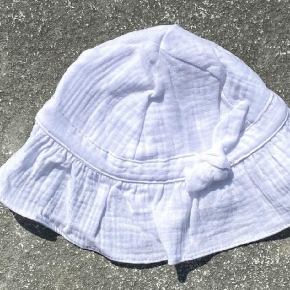 Chapeau fille blanc