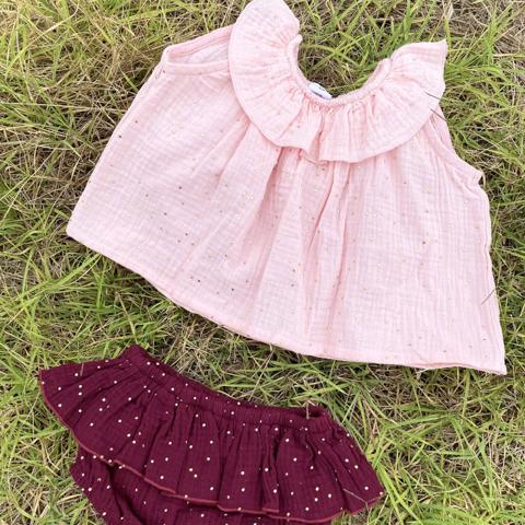 Ensemble fille blush/prune