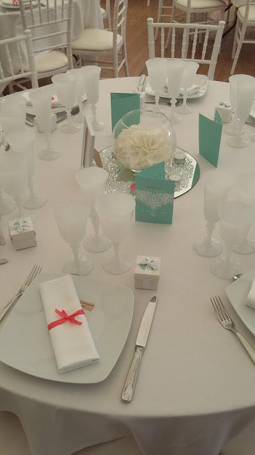 mariage blanc turquoise