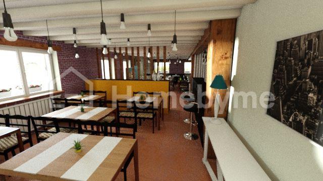 plan 3d du restaurant à relooker